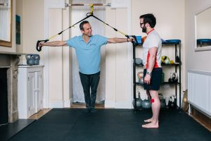 Jack McCall demonstrating TRX